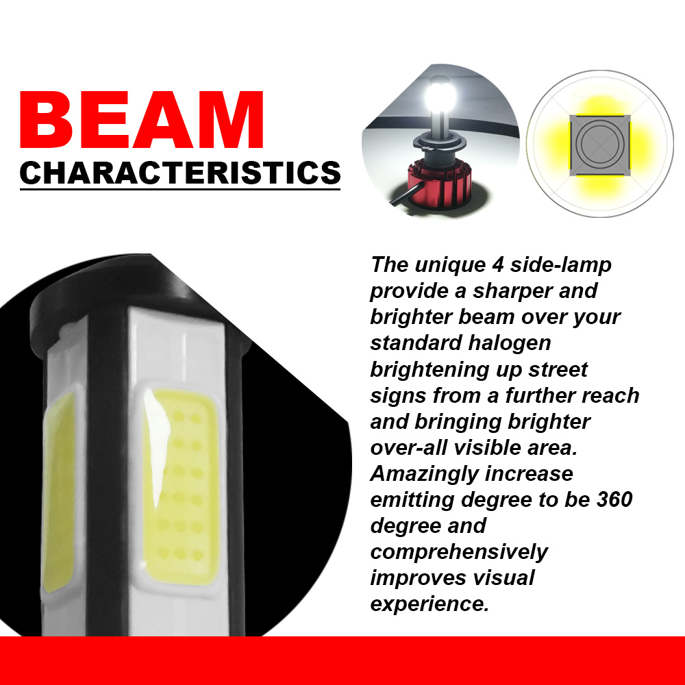 Image 4 - LSlight LED Headlight H7 H4 9005 9006 H11 HB2 HB3 HB4 LED Auto Bulb 6000K 9600LM 72W 12V 24V Car Light diode Ice Lamps luces-in Car Headlight Bulbs(LED) from Automobiles & Motorcycles