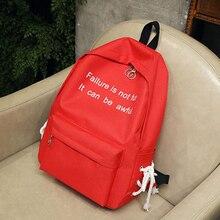 28a933c2f4 Waterproof Nylon Letters Printing Women School Backpack Travel Bagpack  Black Red White Grey Bookbag for Girl
