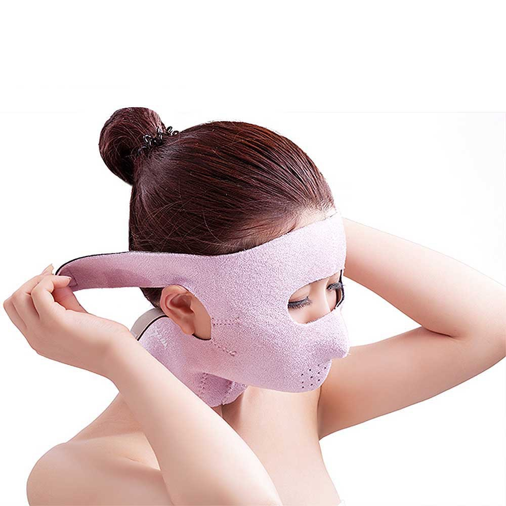 Pink full face mask to lift the face to tighten the mask the new household skin mask is used to mask the oxygen machine s health oxygen machine tube face mask