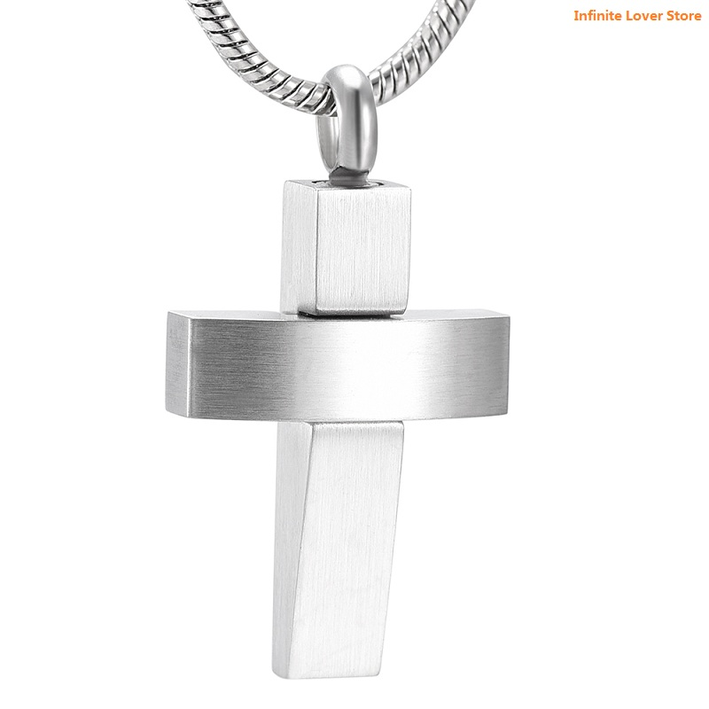 KLH9985-1 316L-Stainless Steel Bold Cross Cremation Urn Necklace for Ash Holder Memorial Pendant Keepsake Jewelry+Funnel IncludeKLH9985-1 316L-Stainless Steel Bold Cross Cremation Urn Necklace for Ash Holder Memorial Pendant Keepsake Jewelry+Funnel Include