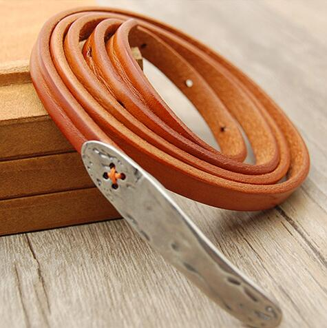 2016 new elegant women belt fashion first layer of cowhide decoration female  thin belt one piece dress belt strap female-in Belts   Cummerbunds from  Women s ... 64f735c50b