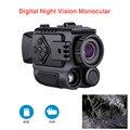 Portátil mini visão noturna infravermelha 8 gb de gravação vídeo monocular digital escopo telescópio longo alcance para a caça ao ar livre esporte