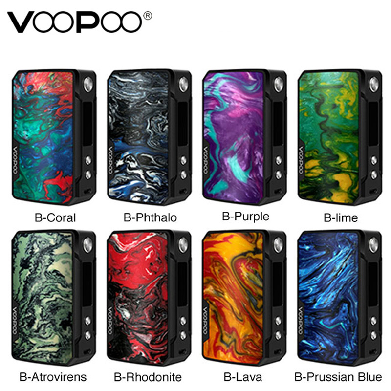 VOOPOO DRAG Mini Mod 117w TC Box Mod 4400mAh GENE FIT Chip Electronic Cigarette Vape fit