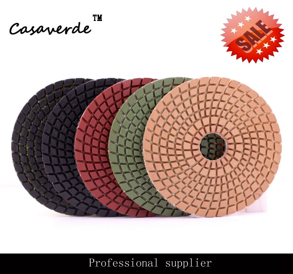 Wet polishing 5 inch 125mm diamond granite wet polishing pads for stone free shipping dc awtpp02 d100mm 4 inch granite diamond dry polishing pads for stone