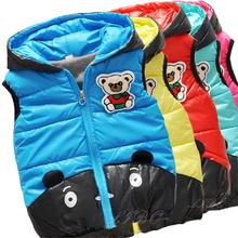 Children Warm parka clothing Outerwear Girls Parka Vest Princess Waistcoat Baby Kids Jacket Coat for Autumn Winter