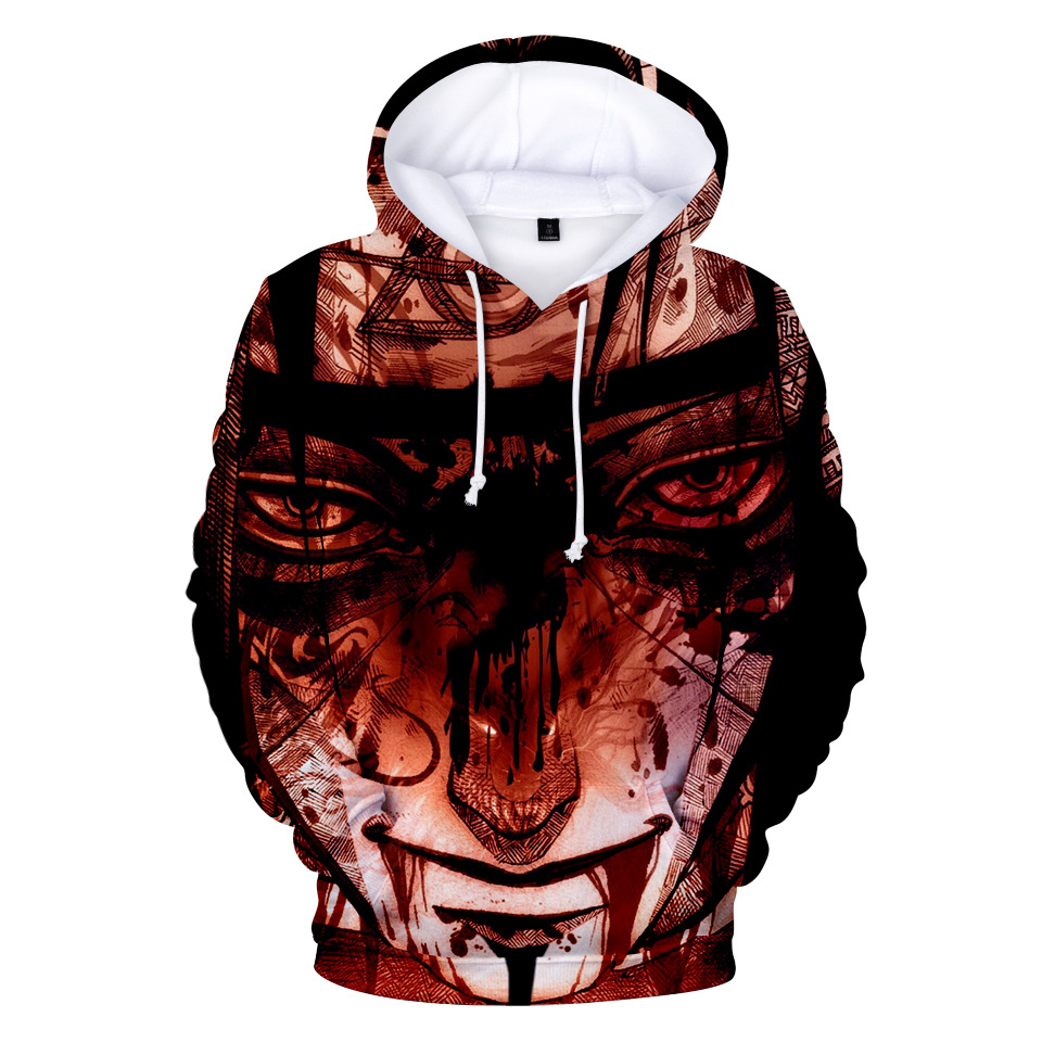 NEW Naruto Hoodie Coat Puiiover Sweatshirts Kakashi Sasuke 3D Hoodies Pullovers Men Women Long Sleeve Outerwear Hoodie N