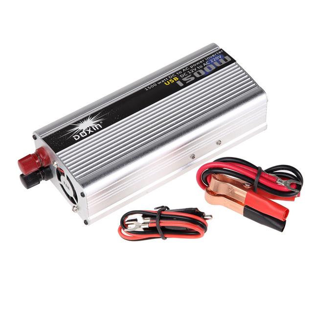 1500 W Watt DC 12 V para AC 220 V Inversor de Potência Do Carro USB Modificado Adaptador de Carregador de energia Conversor DC 12 a AC 220 Modificado Sine Wave
