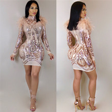 41722ebe0c Buy gold sequin turtleneck dress and get free shipping on AliExpress.com