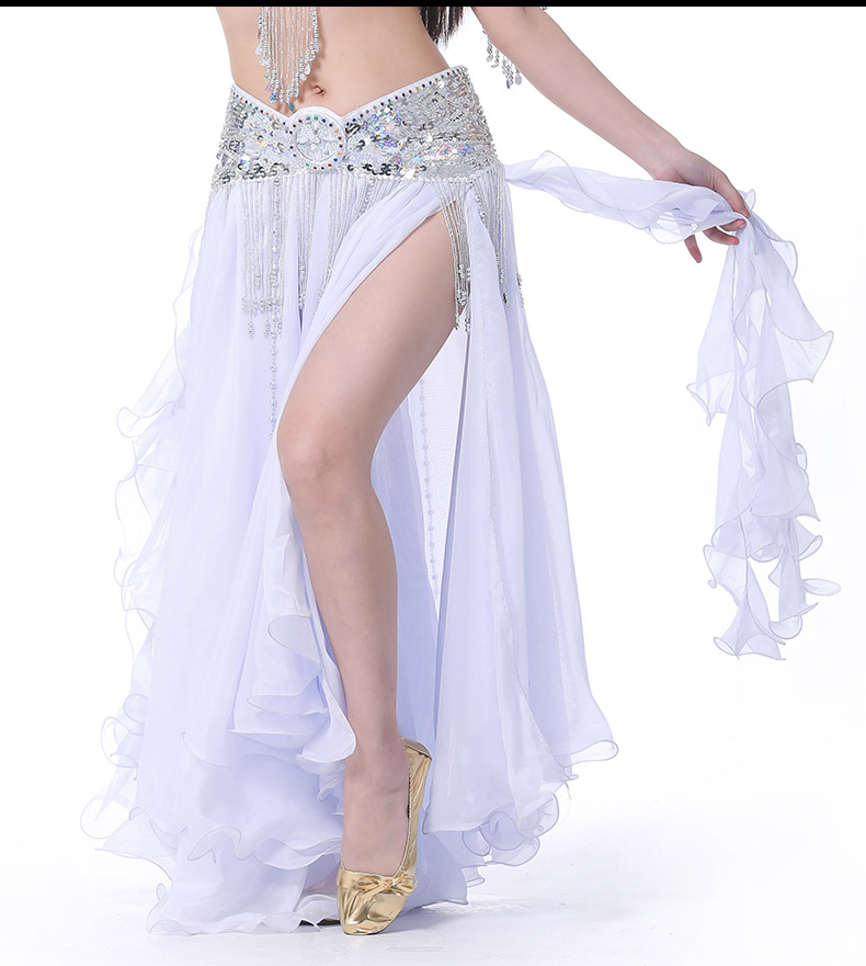 2019 mulheres saia de dança do ventre fenda saias longas maxi  roupas de dança do ventre sexy oriental profissional saias de dança do  ventre 13 coresDança do ventre