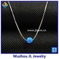 (1 pc/lote) frete Grátis 4mm OP05 Dark Blue Fire opal Sintético Beads/Bola Pingente de colar com S925 Prata contas Pequenas jóias