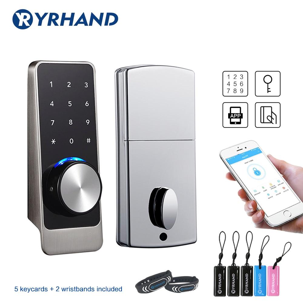Smart Door Lock WiFi Waterproof App Electronic Deadbolt Security Safe Door Lock Bluetooth RFID Keypad Digital