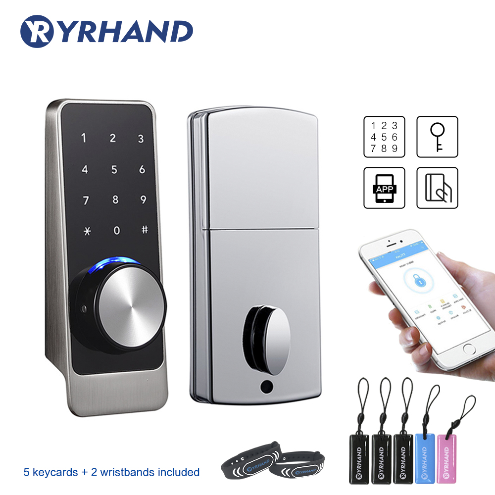TT Lock App Smart Door Lock WiFi, Waterproof  Electronic Deadbolt Security Safe Bluetooth RFID Keypad Digital Door Lock