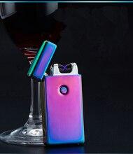 Neue Ankunft zigarettenanzünder Rauchen Zubehör Lichtbogen Winddicht Wiederaufladbare Flammenlose Kein Gas Metall Puls USB Feuerzeuge