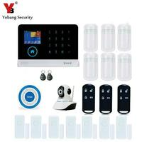 Yobang Security Wireless Home Alarm WIFI RFID APP Remote Control SMS Burglar Security GSM Alarm System Video IP Camera Fire Alar