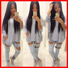Silky straight human hair brazilian full lace wigs with baby hair blenched knots virgin hair lace front wig & full lace wig 1b#
