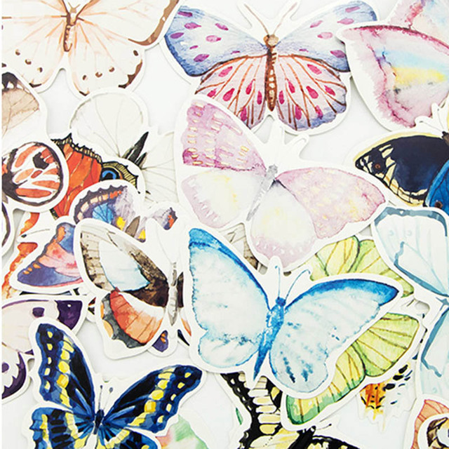 30 pcs/lot DIY Cute Kawaii Paper Postcards Lovely Butterfly Invitation Cards For Kids Gift Party Supplies Free Shipping 822