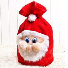 2016 New Santa Claus Happy Merry Christmas Gift Bags Upscale Plush Backpack Small Pocket Baby Children Gift Delivery 55*37.5cm