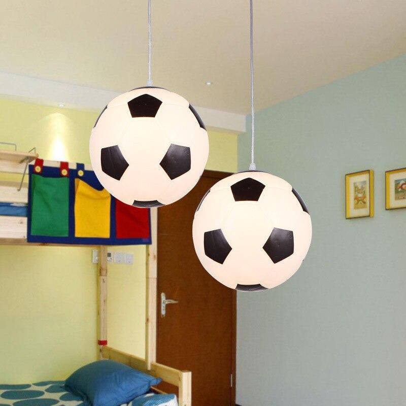 Verre de Football Basket-Ball Pendentif Lumière Creative Globe En Verre E27 Suspendus Lampe Suspension Luminaire pour L'éclairage Intérieur