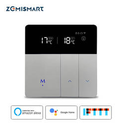 Подогрев водяного пола Wi-Fi термостат работает с Alexa Google Home Smart Wi-Fi управление внешний регулятор температуры