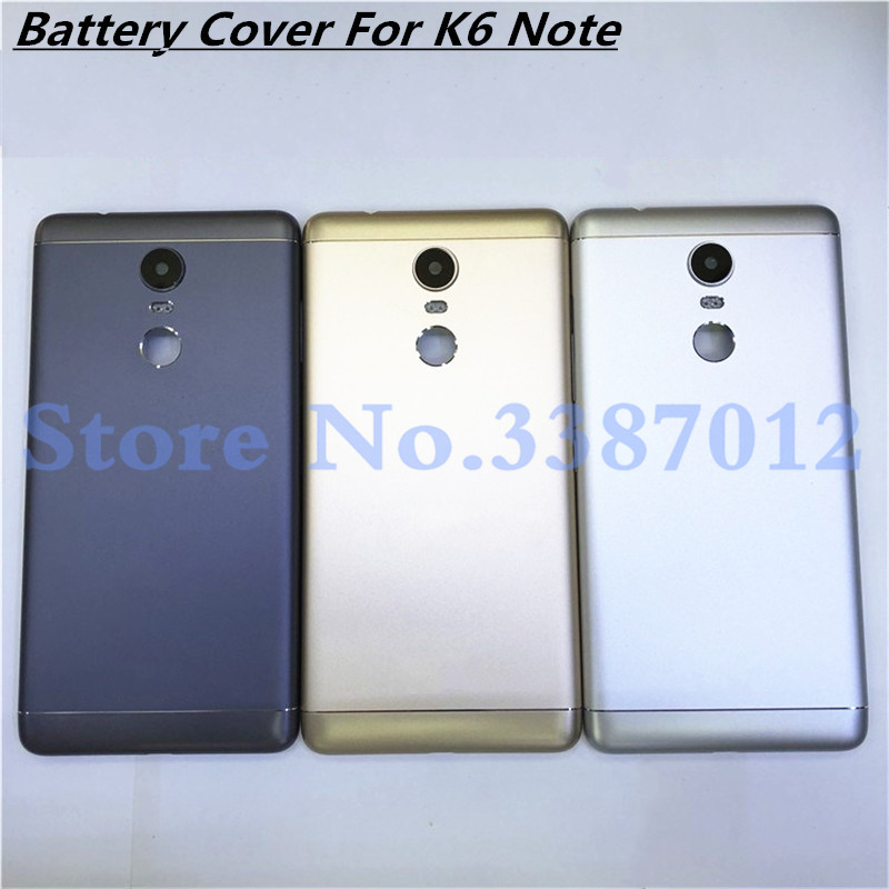 5.5 inches New Metal <font><b>Battery</b></font> Door Back Cover Housing Case For <font><b>Lenovo</b></font> <font><b>K6</b></font> <font><b>Note</b></font> (Without Power Volume Buttons) image