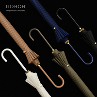 New Arrival Brand Long Handle Big Umbrella Anti UV Japanese Style Quality 16K Windproof Manual Strong