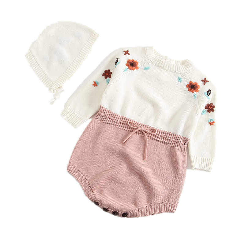 60d55b3994ef ... Baby knitted Rompers 2017 Toddler Boys Girls handmade Woolen Knitted Jumpsuits  Overalls Strap Pants Infant Clothes