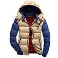 M-4XL Inverno Homens Plus Size Jaqueta de Algodão Acolchoado Homem Casaco Outerwear À Prova de Vento Jaquetas Qulited Quente Parka Homens jaqueta Com Capuz