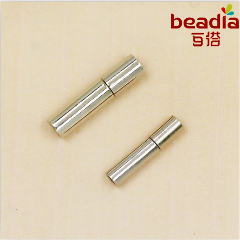 3x14mm4x17mm 6 setbag Rhodium Plated For Jewelry Making Cord Clasp End Clasp Leather Clasp DIY Accessories
