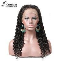 joedir парики бразильский человеческих волос кружева 360 wig150 % плотность глубоко локон человеческого волоса для женские натуральные цвет бесплатная доставка