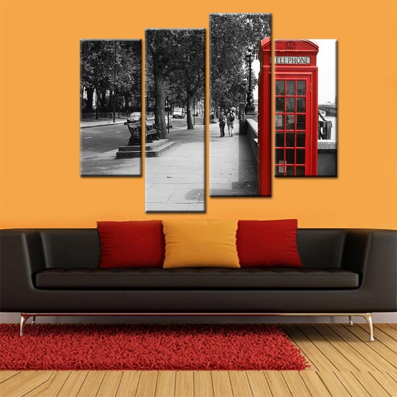 moderno arte de la pared pinturas de decoracin del hogar decoracin de la calle londres cabina