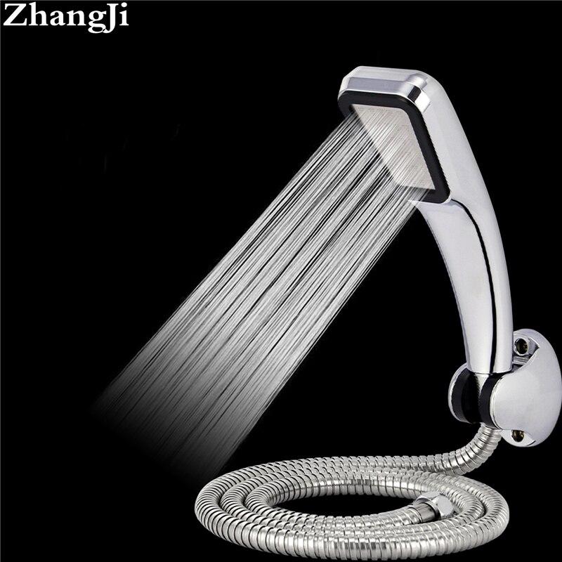 Zhangji caliente 300 agujeros cabeza de ducha ABS con titular y Chrome manguera 30% de ahorro de agua 300% presión baño ducha head Set