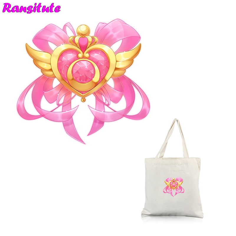 R272 Sailor Moon Cute DIY Sticker Patch Couple Clothing A Grade Powder Thermal Transfer Decoration Hot Map