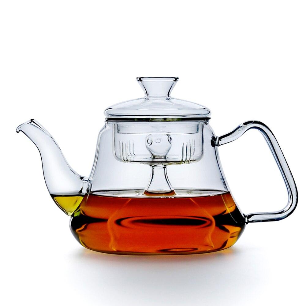 PINDEFANG 1000ml Regimen Steaming kettle made of Heatable Borosilicate Glass Red Herbal Flower tea pot Kettle health life set coffee table