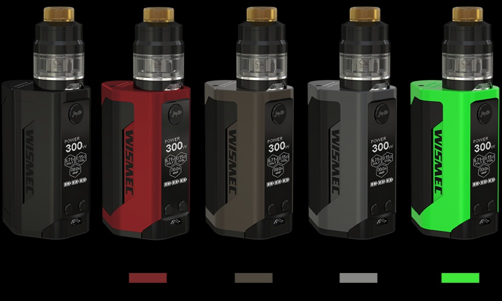 Original WISMEC Reuleaux RX GEN3 300W Kit with Gnome Tank 2ml Gnome Tank and RX GEN3 TC Mod RXGEN3 Mod update rx2/3 predator 228 wismec predator 228 with elabo kit predator 228w with 4 9ml e juice capacity 510 thread electronic cigarette vs primo vs rx2 3
