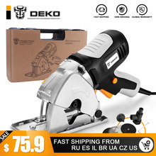 DEKO Mini Circular Saw Handle Power Tools, 4 Blades, BMC BOX Electric Saw with Personal Safety and Electrical Safety System(China)
