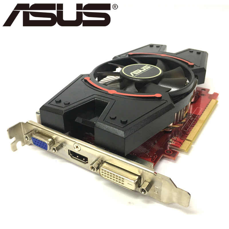 ASUS Graphics Card R7250 2GB 128Bit GDDR3 Video Cards for AMD Radeon R7 250  VGA Cards Used Equivalent GT730 GT630 GTX 650