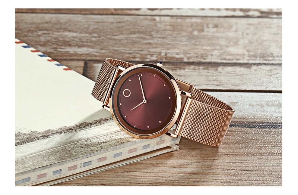IBSO Fashion Simple Style Ultra Thin Bracelet Watches 20