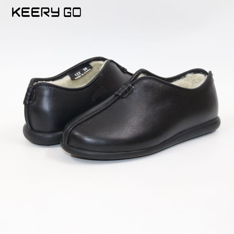 새로운 가죽 부드러운 편안한 플랫 바닥 신발-에서여성용 플랫부터 신발 의  그룹 1
