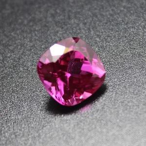 Image 4 - Безупречные розовые, красные турмалиновые камни, бисер для самостоятельного изготовления ювелирных изделий с розово красным камнем rosee fat квадратной формы