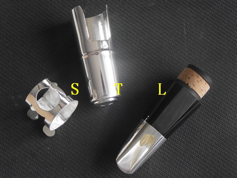Advanced Silver-plated Metal Bb Clarinet mouthpiece ligature and cap trumpet mouthpiece set silver plated 4 sizes convertible 7c 5c 3c 1 1 2c
