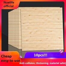 3d foam pE wood pattern wall sticker living room bedroom kids kindergarten shop ceiling anti-collision soft
