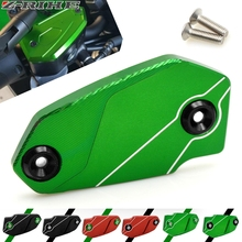 For Kawasaki Z900 Z 900 2017 Motorcycle Brake Fluid Reservoir Tank Cover CNC Aluminum Brake Fluid Reservoir Cap Motorbike Z900 цена