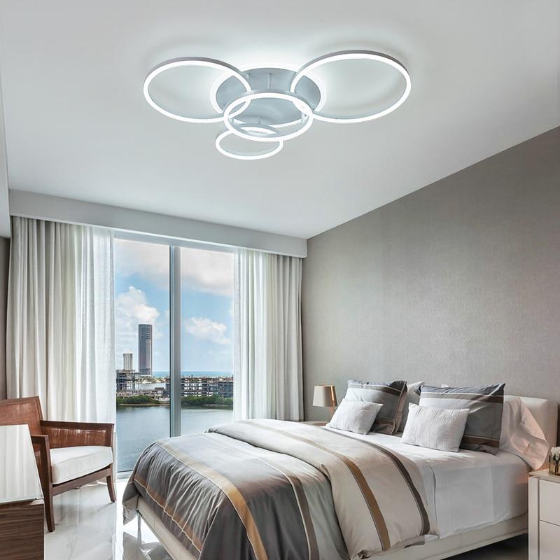 Yanghang acrílico moderno led luzes de teto para sala estar quarto plafon led casa iluminação da lâmpada do teto luminárias - 3