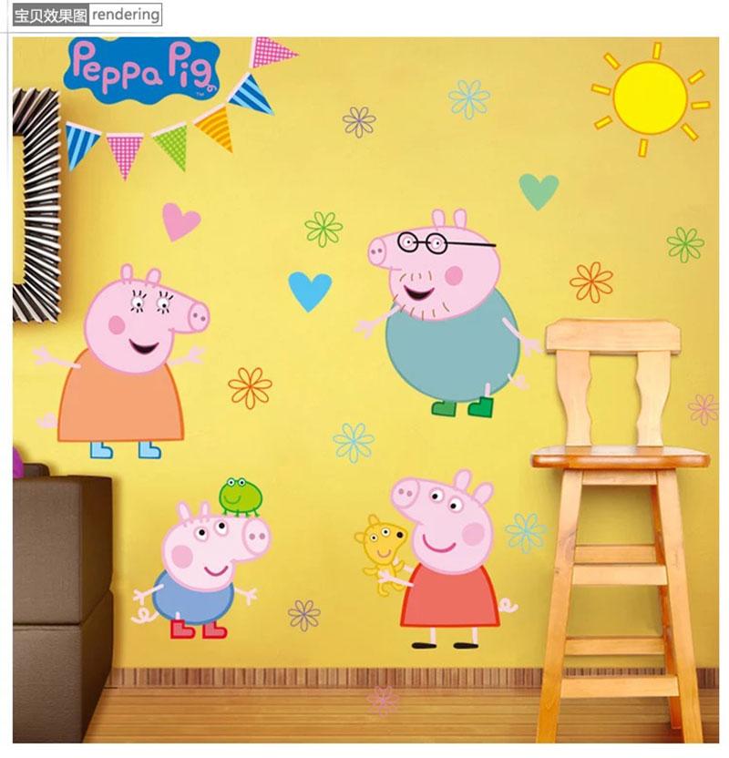 Fancy Peppa Pig Wall Decor Illustration - Wall Art Design ...