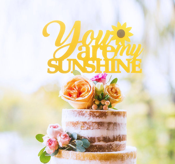 Aliexpress Buy You Are My Sunshine Cake Topper Sunflower Baby