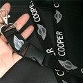 Insignia del coche anillo de La Cadena Dominante del Acollador Correa para el Cuello Tarjeta de IDENTIFICACIÓN Titular de la insignia clip de Cordón para BMW Mini Cooper Logo Teléfono Lanyard