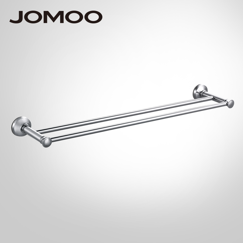 JOMOO brass Material Double Towel Bar Wall Mounted Towel Holder hanger Towel rack Bathroom Accessories Modern Style okaros bathroom double towel bar 60cm towel rack towel holder solid brass golden chrome plating bathroom accessories