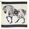 100 REAL SILK Women Horse Pattern SCARF OL Print 90 90cm Square Kerchief Brand Summer Stewardess