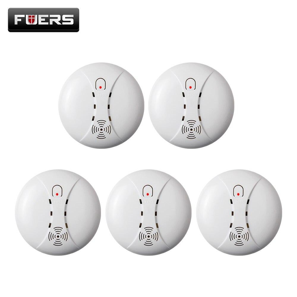 bilder für 5 teile hohe qualität funk-rauchmelder feuer schutz sensor für home shop gsm alarmanlage kerui alarmanlagen