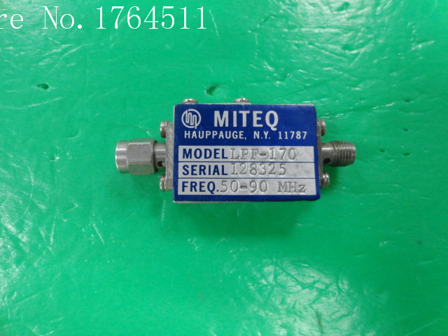 [BELLA] MITEQ LPF-170 DC-130MHZ (50-90MHZ) RF Low-pass Filter SMA (F-M)